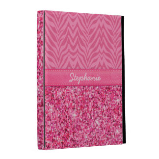 Glitzy Pink Zebra iPad Cases