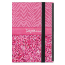 Glitzy Pink Zebra iPad Mini Case