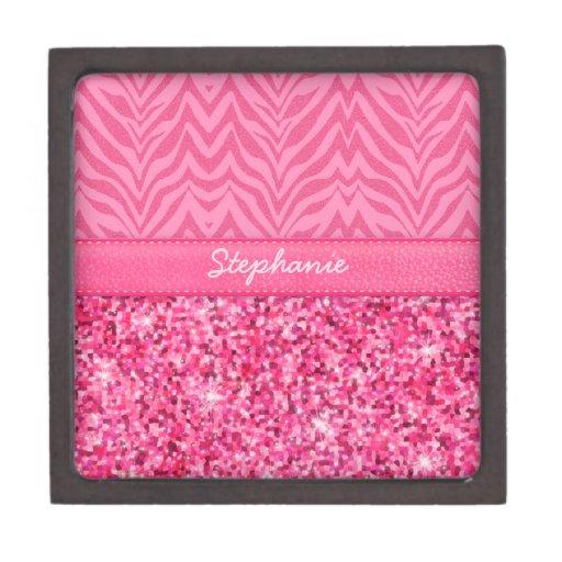 Glitzy Pink Zebra Premium Gift Boxes