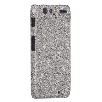 Glitzy Silver Glitter Droid RAZR Case