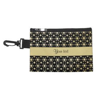 Glitzy Sparkly Faux Gold Stars Accessory Bag