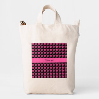 Glitzy Sparkly Hot Pink Glitter Buttons Duck Bag