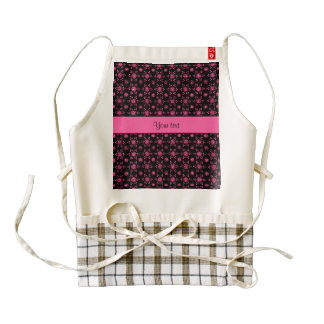 Glitzy Sparkly Hot Pink Glitter Stars Zazzle HEART Apron