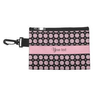 Glitzy Sparkly Lilac Glitter Buttons Accessory Bag