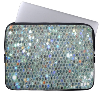 Glitzy Sparkly Silver Bling Glitter