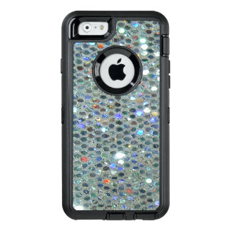 Glitzy Sparkly Silver Bling Glitter OtterBox Defender iPhone Case