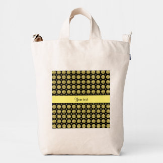 Glitzy Sparkly Yellow Glitter Buttons Duck Bag