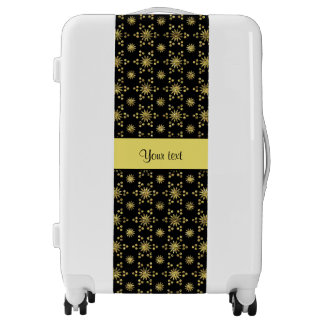 Glitzy Sparkly Yellow Glitter Stars Luggage