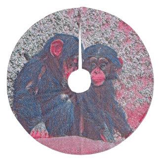 GlitzyAnimal_Chimpanzee_003_by_JAMColors Fleece Tree Skirt