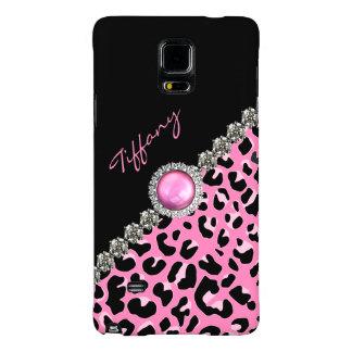 Glitzzy Pink Jaguar Print Samsung Note 4 Case Galaxy Note 4 Case