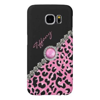 Glitzzy Pink Jaguar Print Samsung S6 Case