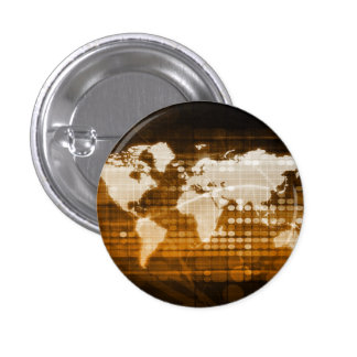 Global Access of Service and Technology Solutions Pinback Button