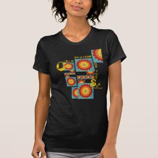Global Art Sunburst Mosaic -T Shirt by Leila