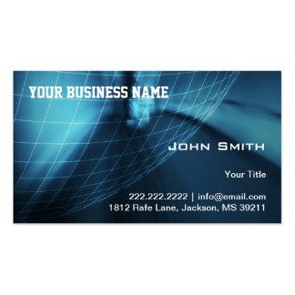 Global azul moderno de la tecnología tarjetas de visita