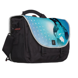 Global Business Background Laptop Bag