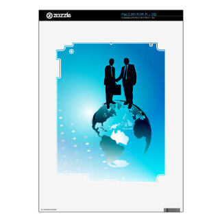 Global Business Background Skin For iPad 2