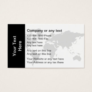 Global Business Card Template