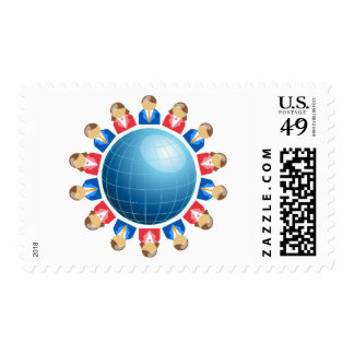 Global Business Men And Women Postage