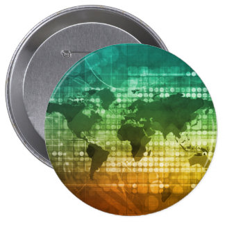Global Business Strategy and Development Pinback Button