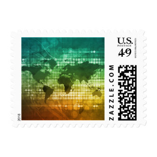 Global Business Strategy and Development Postage Stamp