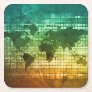 Global Business Strategy and Development Square Paper Coaster