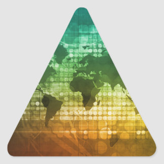 Global Business Strategy and Development Triangle Sticker