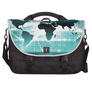 Global Business Technology Futuristic Traveler Laptop Commuter Bag