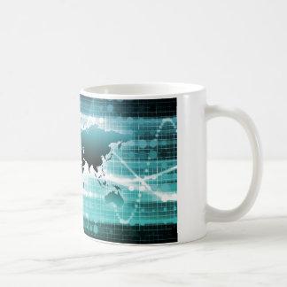 Global Business Technology Futuristic Traveler Classic White Coffee Mug