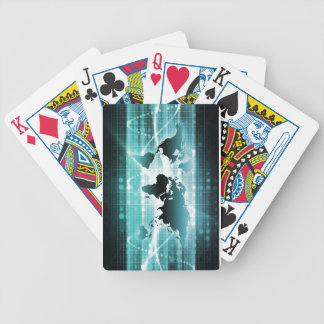 Global Business Technology Futuristic Traveler Bicycle Poker Cards