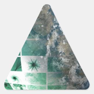 Global Business Technology Triangle Sticker