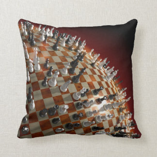 Global Chess Game Throw Pillow