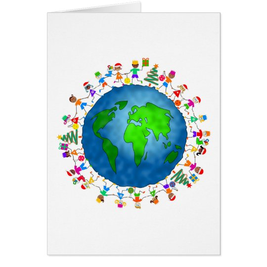 Global Christmas Kids Card