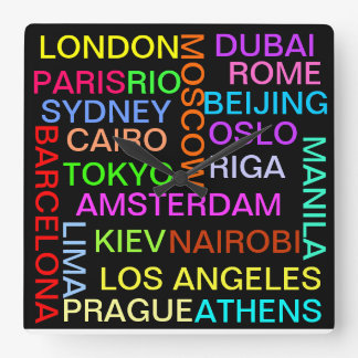 Global Cities world clock