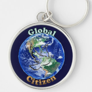 Global Citizen Peace Dove Key Ring