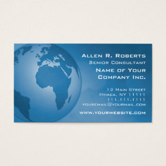 Global Commerce EMEA Europe Africa Middle East Business Card