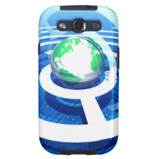 Global communication, conceptual computer 2 samsung galaxy SIII cases