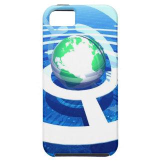 Global communication conceptual computer 2 iPhone 5 case