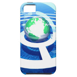 Global communication, conceptual computer 2 iPhone SE/5/5s case