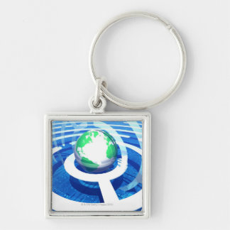 Global communication, conceptual computer 2 keychain