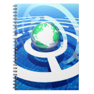 Global communication, conceptual computer 2 spiral note book