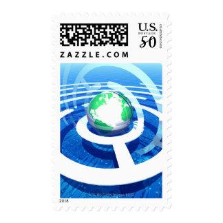 Global communication, conceptual computer 2 postage