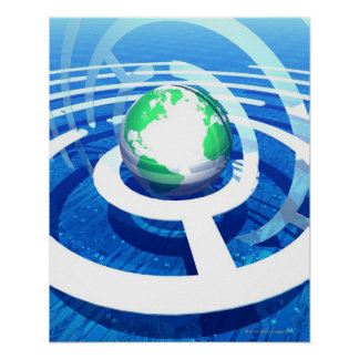 Global communication, conceptual computer 2 poster