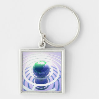 Global communication, conceptual computer keychain