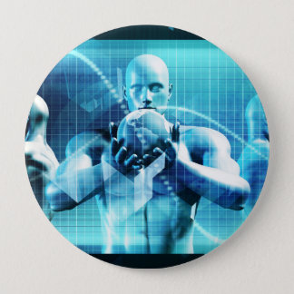 Global Conference Concept as a Abstract Background Pinback Button