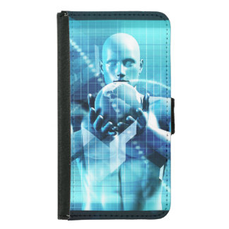 Global Conference Concept as a Abstract Background Samsung Galaxy S5 Wallet Case