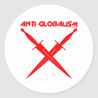 GLOBAL CONSPIRACY CLASSIC ROUND STICKER