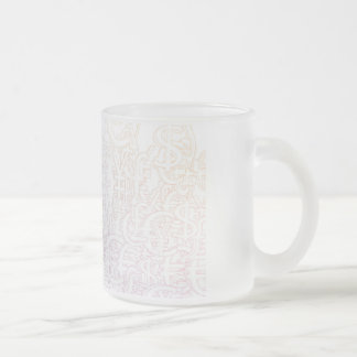 Global Currencies Background as a Currency Pattern Frosted Glass Coffee Mug