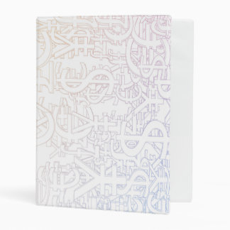 Global Currencies Background as a Currency Pattern Mini Binder