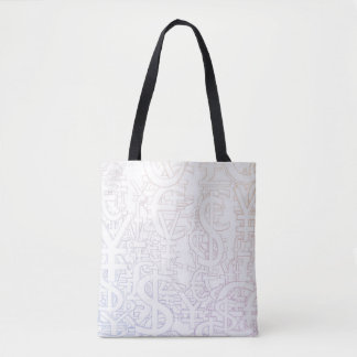 Global Currencies Background as a Currency Pattern Tote Bag