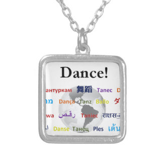 Global Dance - The Global Language (Customizable) Square Pendant Necklace